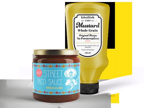 Condiment & Sauce Labels