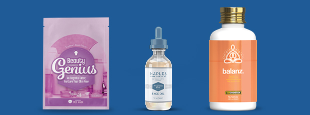 Cosmetic Bottle Labels Different Sizes