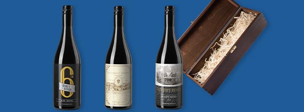 Three Custom Wine Bottle Labels