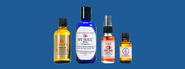 Essential Oil Bottles with Labels
