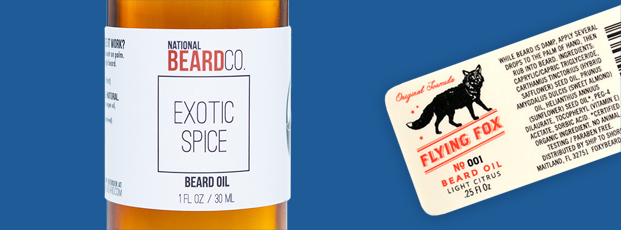 Beard Oil Label with Product