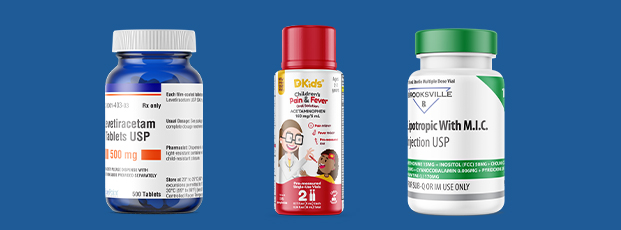 Three Examples of Pharmaceutical Bottle Labels