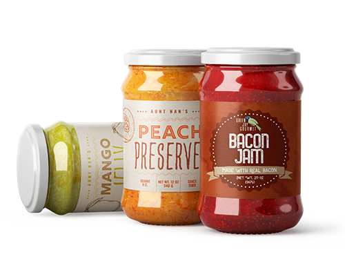 Jelly Jam Food Labels Banner