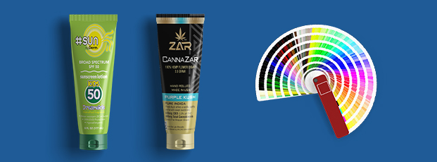 Flexible Tube Labels with Color Wheel