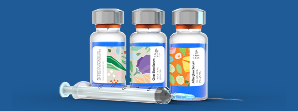Three Assorted Vial Labels