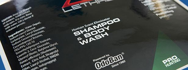 Close-Up of Weatherproof Label